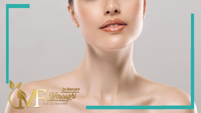 تزریق ژل برای خطوط گردن
